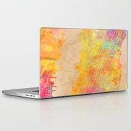 New York City Map Colore… Laptop & iPad Skin