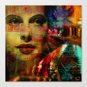 I wait for you below in the street Canvas Print