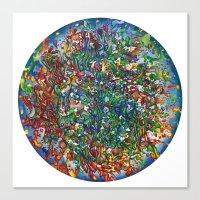 Planet Phoenix - Gouache on paper Canvas Print