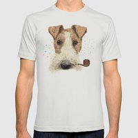 Fox Terrier Sailor Mens Fitted Tee Silver SMALL