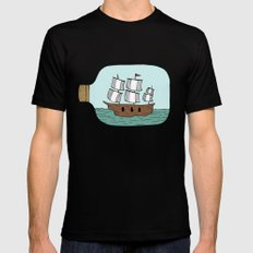 Ship in a Bottle Mens Fitted Tee Black SMALL