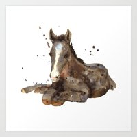 Horse Painting, Watercol… Art Print