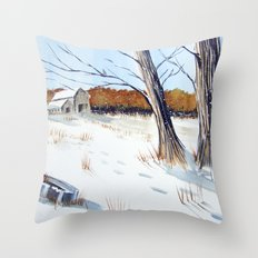 A Different Path - Winter Wonderland Throw Pillow