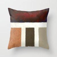 Textured Cubism Throw Pillow