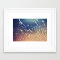 Blue And Day  Framed Art Print