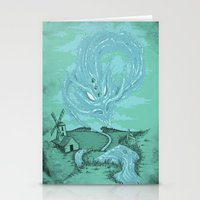 The River's Fierce Ascen… Stationery Cards