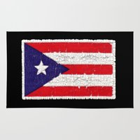 Puerto Rican Flag Rug