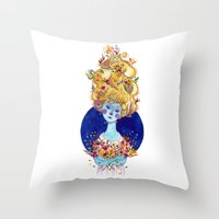 The Cold Winter Throw Pillow