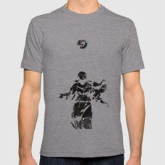 Holy Guns Mens Fitted Tee Athletic Grey SMALL