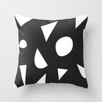 Boom On Black Throw Pillow