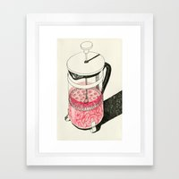 Push it Framed Art Print