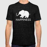 Happiness Mens Fitted Tee Tri-Black SMALL