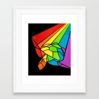 Striped Shapeshifting Tu… Framed Art Print