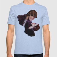 Star Wars, Han & Leia Th… Mens Fitted Tee Athletic Blue SMALL