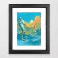 Sea Horses Framed Art Print
