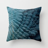 Ombre wings Throw Pillow