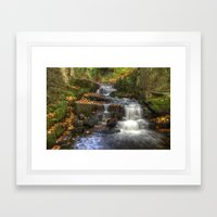 Bentley Brook Waterfall Framed Art Print
