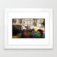 Sequential Serie : On the Street Framed Art Print