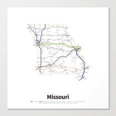 Highways of the USA – Missouri Canvas Print
