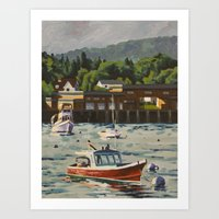 Bass Harbor, Maine Art Print