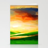 Colorful Sky - Painting Style Stationery Cards