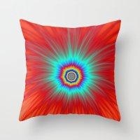 Turquoise Explosion  On … Throw Pillow