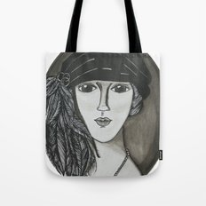Bright Eyed Girl Tote Bag