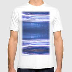 Night Light 121 White Mens Fitted Tee SMALL