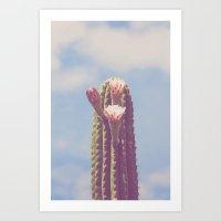 Happy Cactus :) Art Print