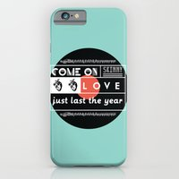 "iPhone & iPod Case featuring ""come on skinny love, just last the year.""  by hi, my name is monica"