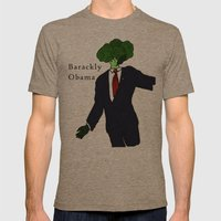 Barackly Obama Mens Fitted Tee Tri-Coffee SMALL