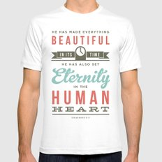He has made everything beautiful Mens Fitted Tee White SMALL
