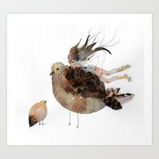 a bird thing  Art Print