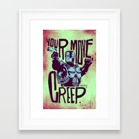 Framed Art Print featuring Your move, creep. // ROBOCOP by boy Roland