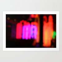 Neon City Lights. Art Print