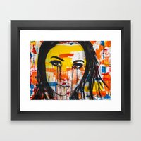 The unseen emotions of her innocence Framed Art Print