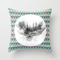 Deer V2 Throw Pillow