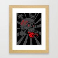 Shanghai Skull Blackout Framed Art Print