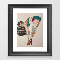 Patchwork Zombie. Framed Art Print