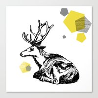 Simply Deer Canvas Print