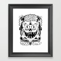 Need More Brains! Framed Art Print