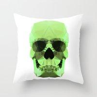 Polygon Heroes - Emerald… Throw Pillow