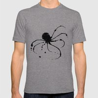 Octopus Ink Mens Fitted Tee Tri-Grey SMALL