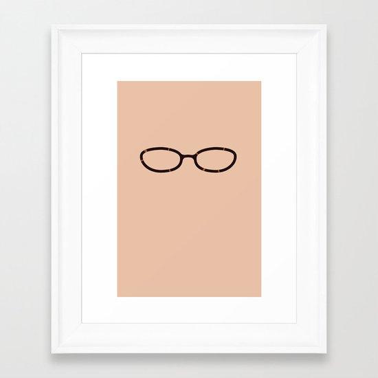 Liz Lemon Glasses Framed Art Print