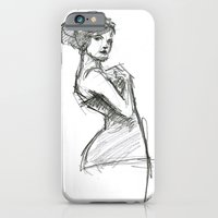 iPhone & iPod Case featuring Lady-1 by Darren Le Gallo