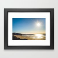 The winter afternoon Framed Art Print