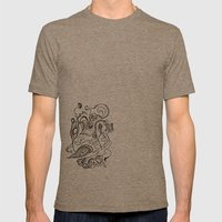 Flora Mens Fitted Tee Tri-Coffee SMALL