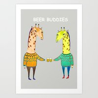 Beer Buddies Art Print