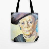 Portrait Of Maggie Smith… Tote Bag