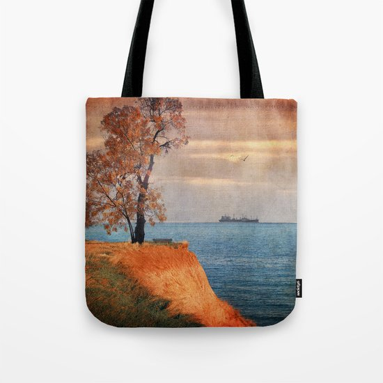 Autumn by the sea Tote Bag